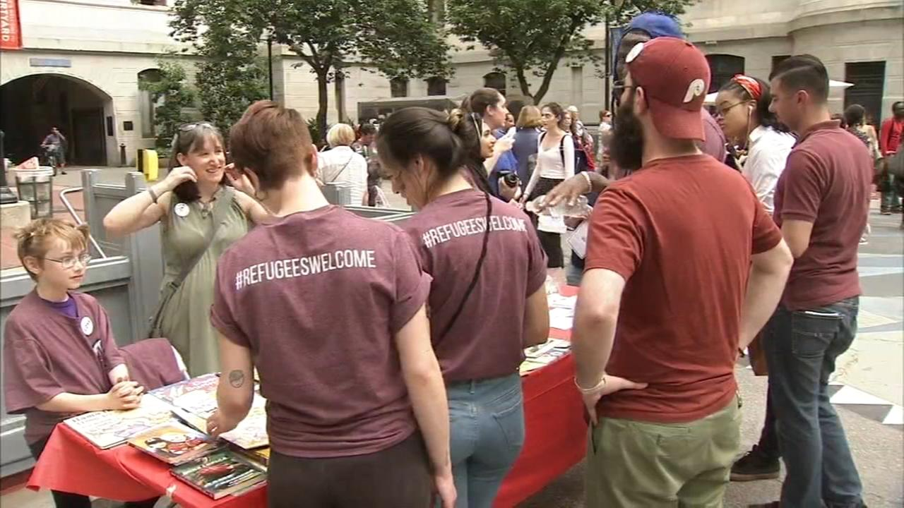 Philadelphians gather for World Refugee Day, react to executive order