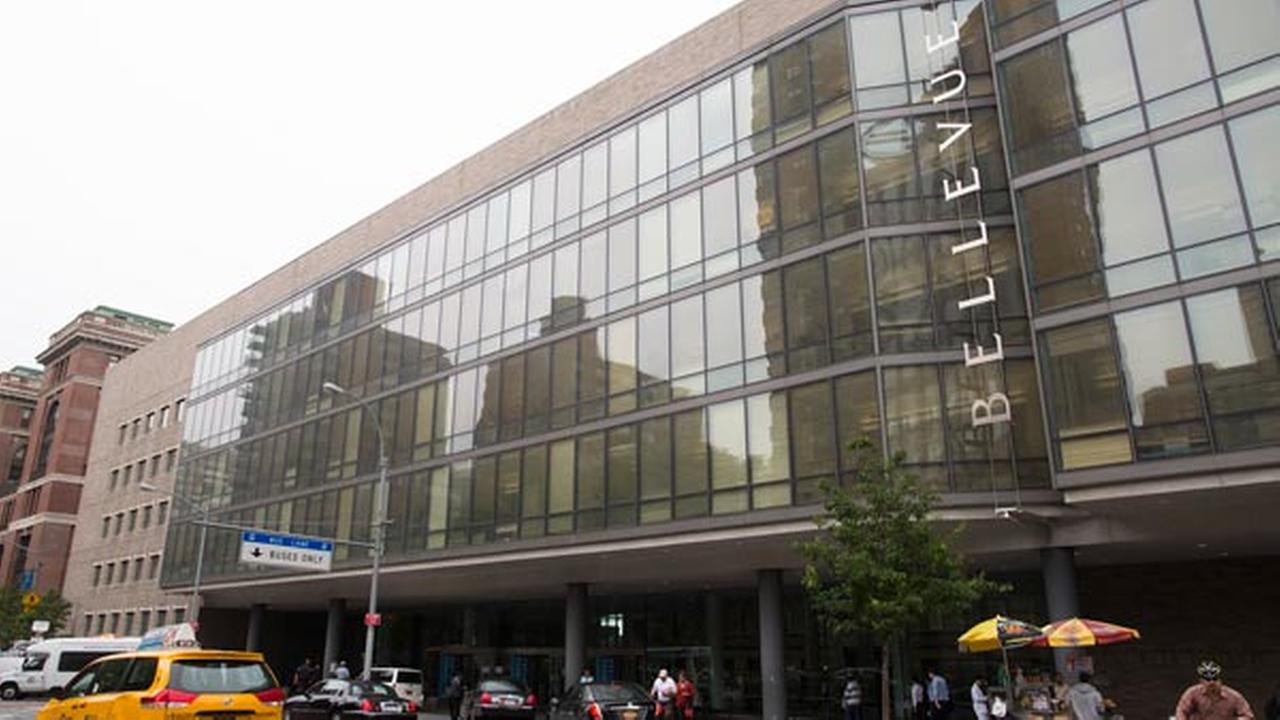 FILE: The exterior of Bellevue hospital in New York.