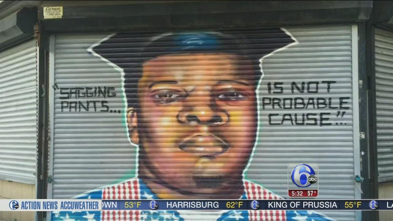 VIDEO: Trenton mural of Ferguson teen Michael Brown removed