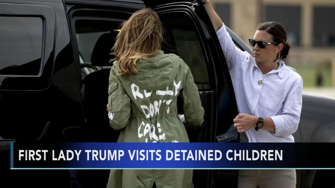 First Lady visits detained children