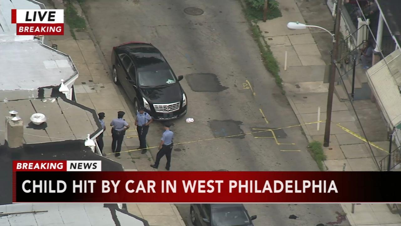 Child seriously hurt after being hit by car in West Philadelphia