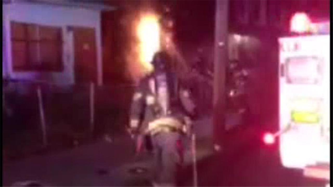 Fire forces 11 people from Camden home