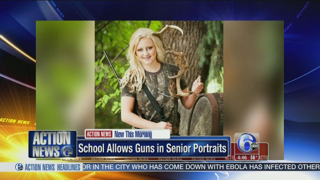 VIDEO: Students allow to pose wih guns in senior portraits
