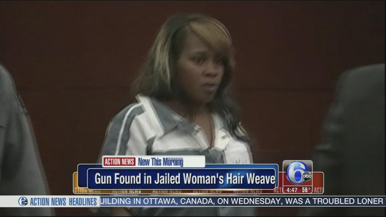 VIDEO: Gun found in jailed womans hair weave