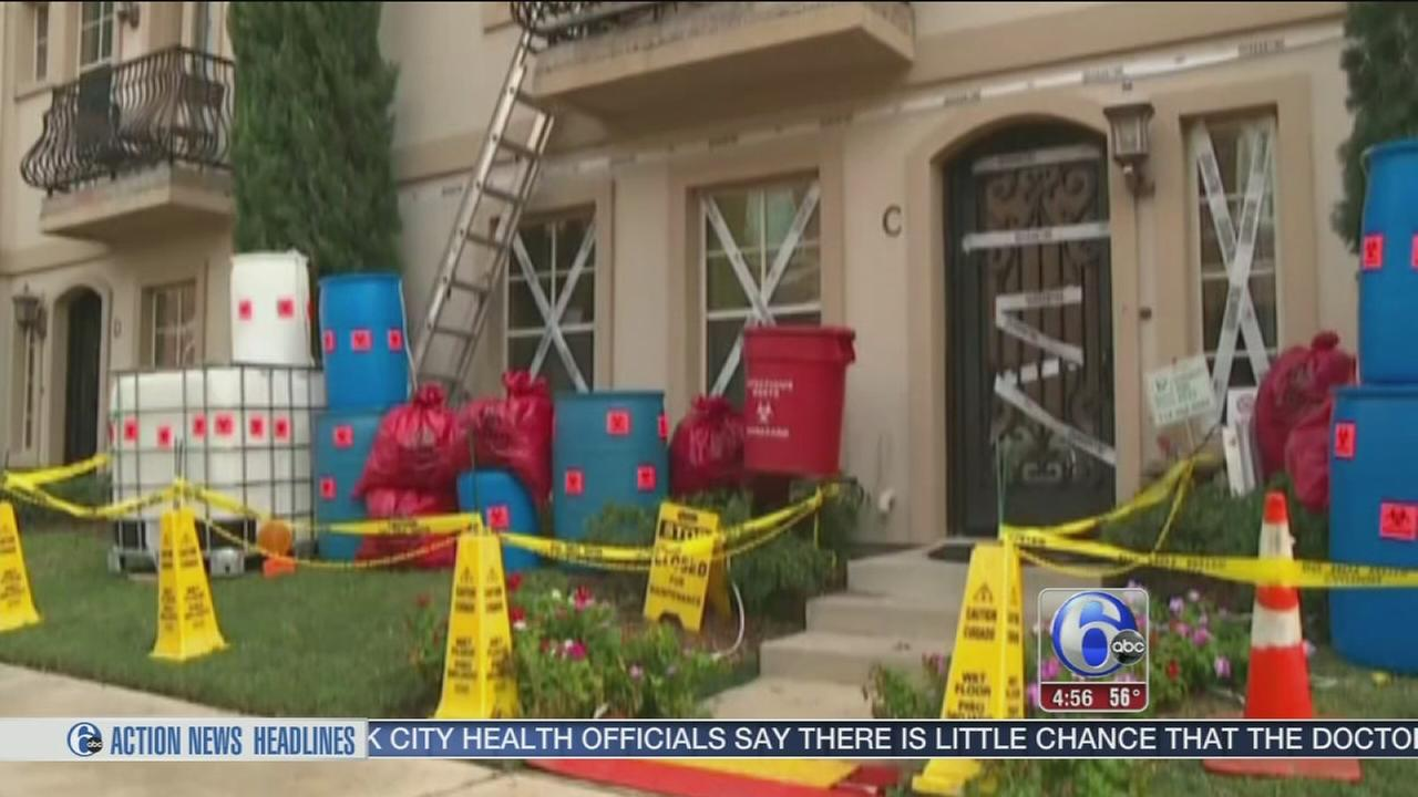VIDEO: Texas home displays halloween-Ebola theme