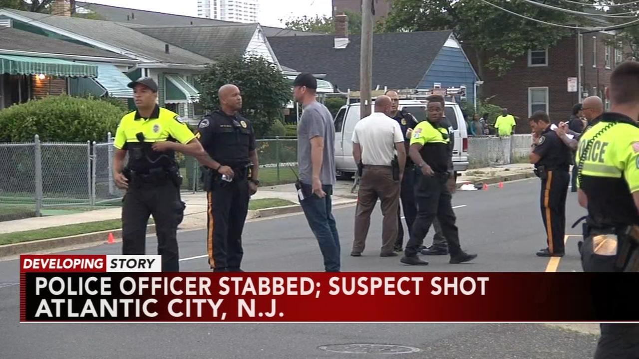 Officials: Police shoot suspect after officer stabbed in Atlantic City