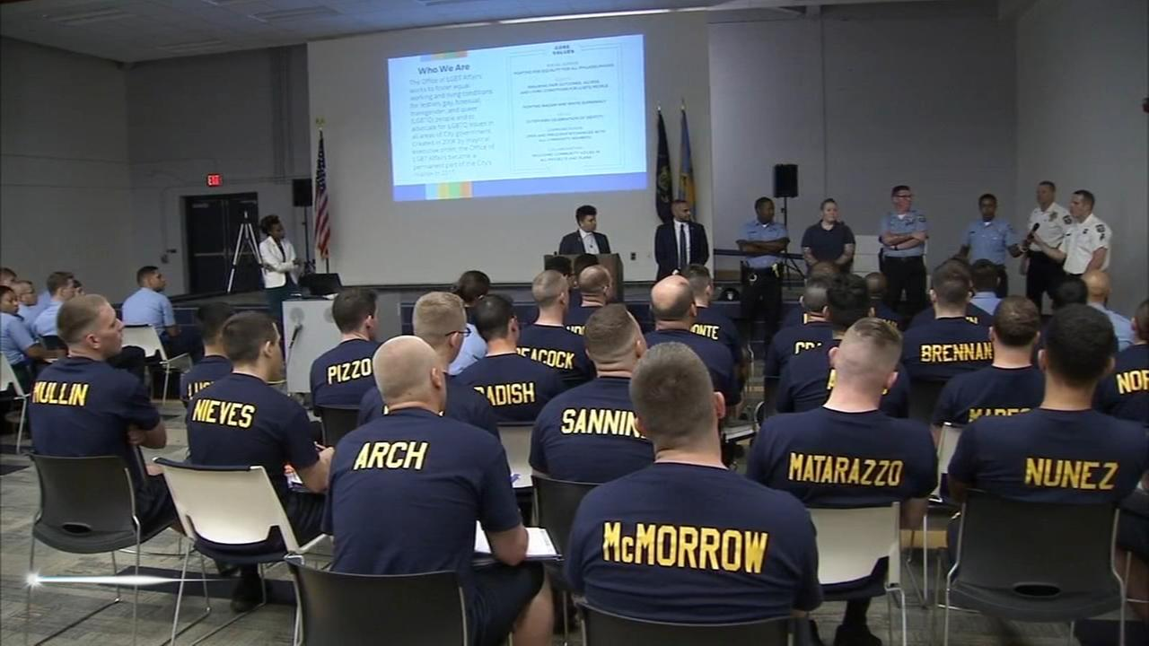 Philly police recruits train to interact with LBGTQ  community