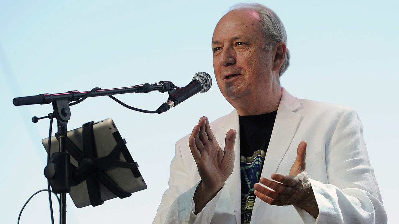 FILE - In this April 27, 2014 file photo, Michael Nesmith performs on the third day of the 2014 Stagecoach Music Festival in Indio, Calif.