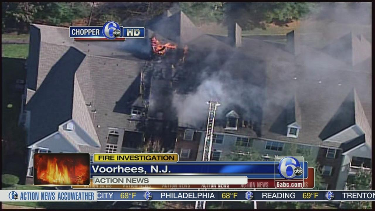 VIDEO: Apartments damaged in Voorhees fire