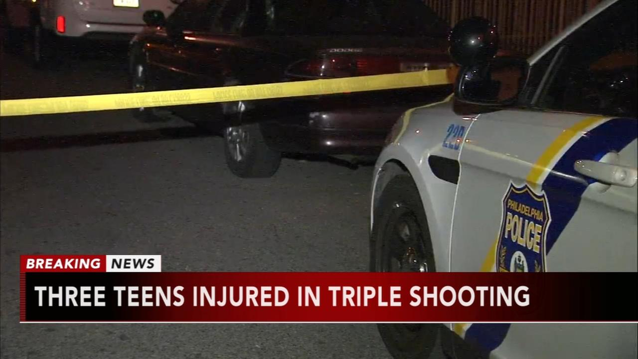 Three teens injured in triple shooting
