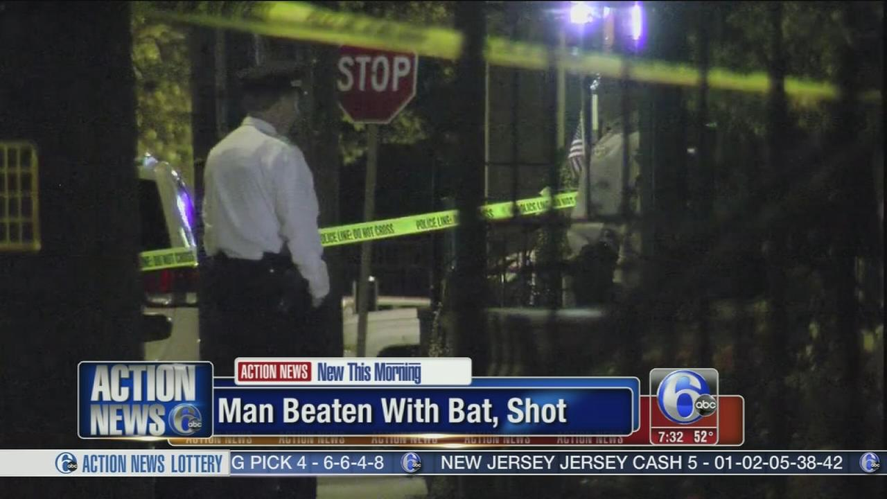 VIDEO: Man struck with baseball bat and shot in Queen Village