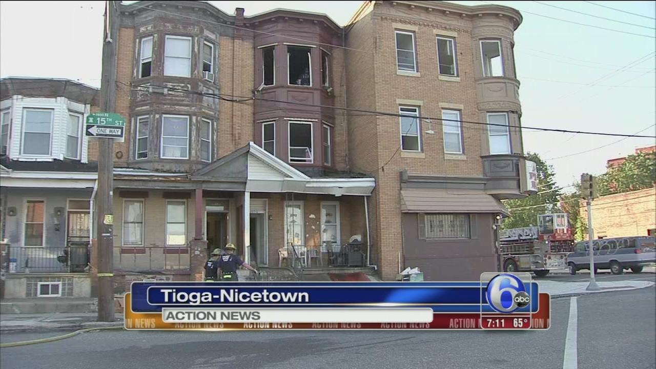 VIDEO: 20 displaced in Tioga-Nicetown fire