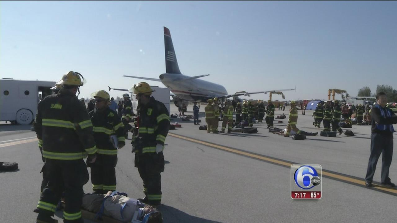 VIDEO: Disaster response drill at Philadelphia International Airport