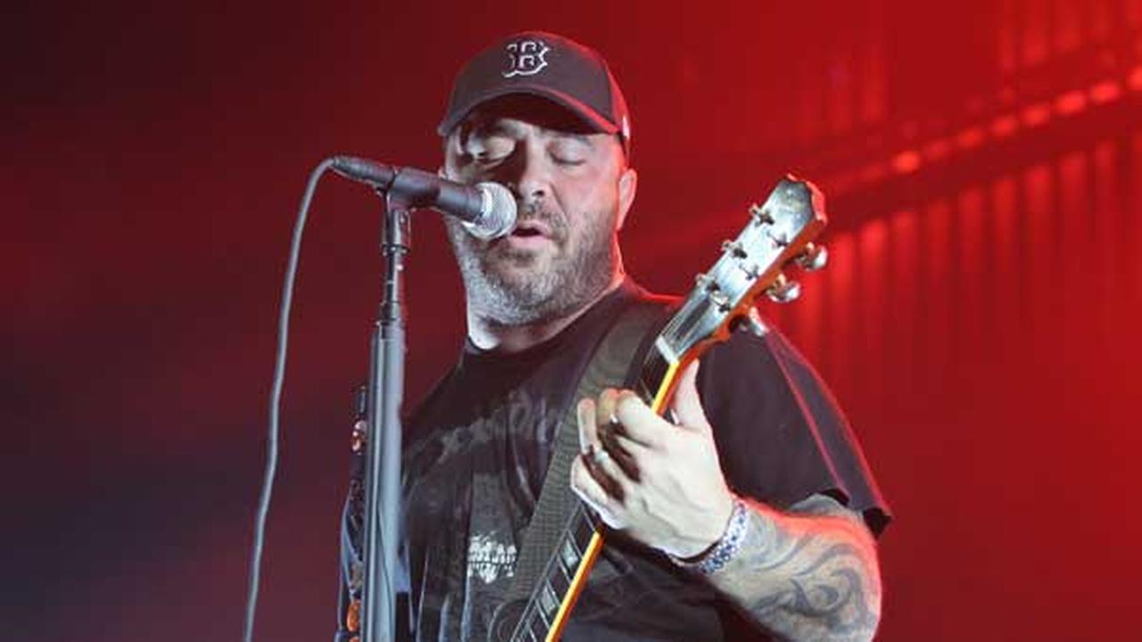Singer Aaron Lewis of Staind performs at the KROQ Almost Acoustic Christmas held at the Gibson Amphitheater in Universal City, Calif.