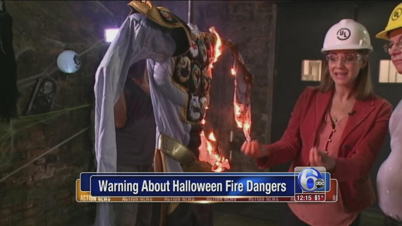 VIDEO: Warning about Halloween costume fire dangers