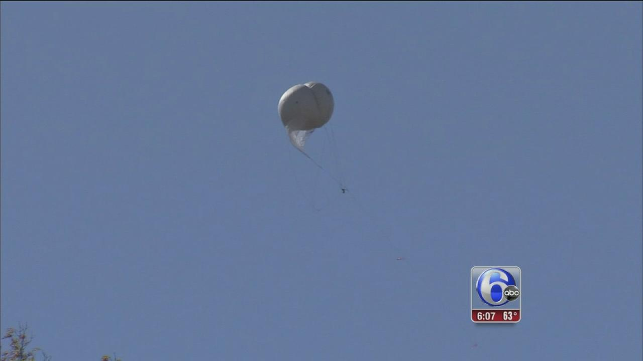 VIDEO: Police using unmanned balloon in Frein manhunt