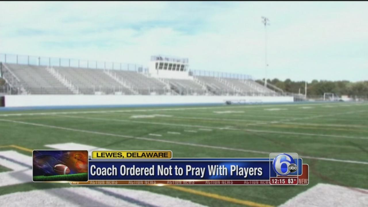 VIDEO: Coach ordered not to pray with players