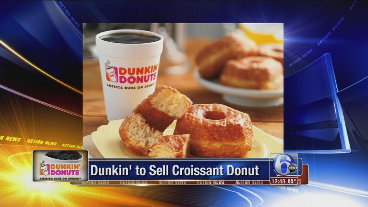 VIDEO: Dunkin Donuts to sell croissant donut