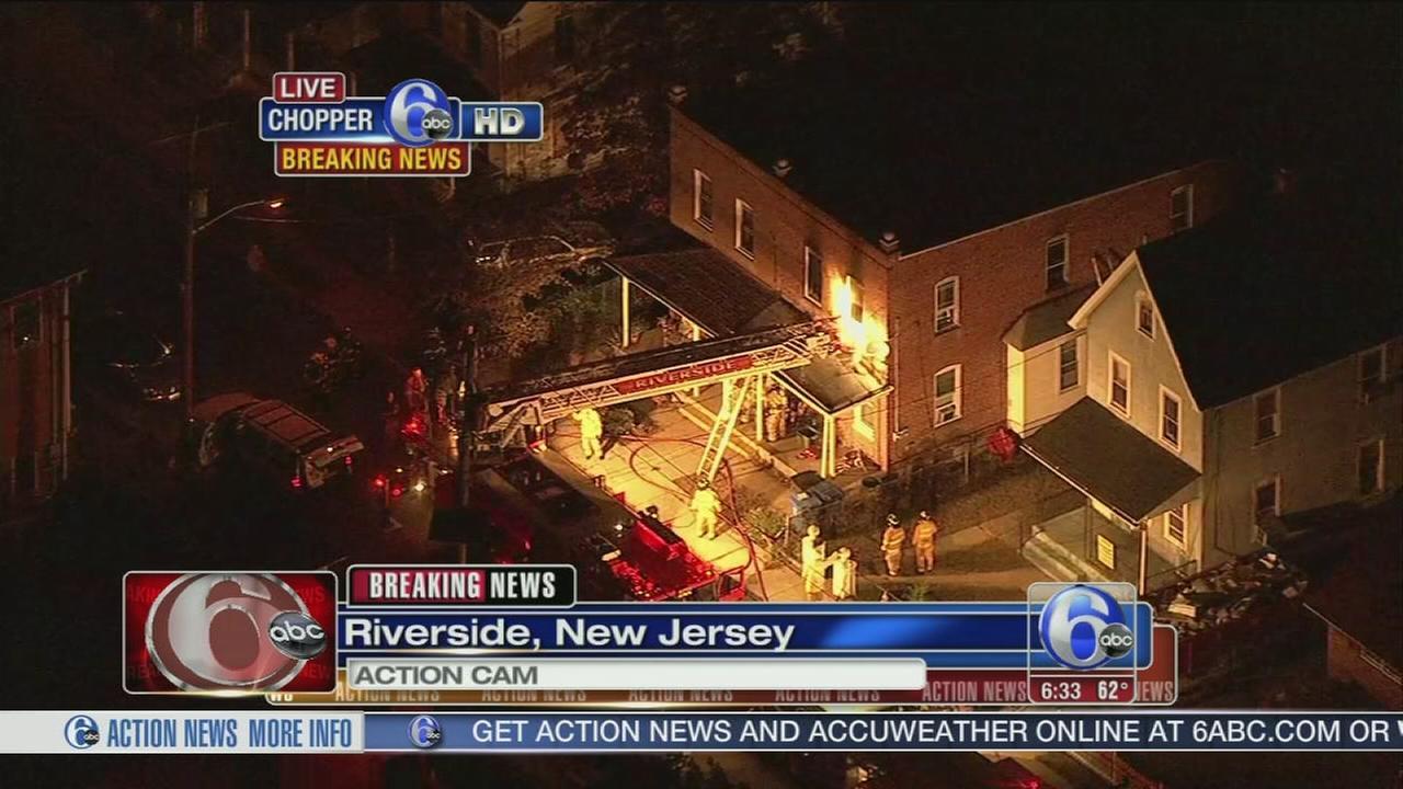 VIDEO: Fire damages home in Riverside, N.J.
