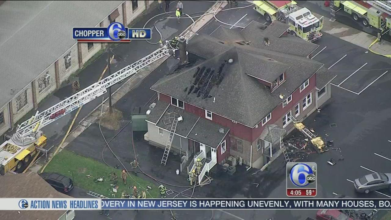 VIDEO: Flames destroy Northampton County pizza shop