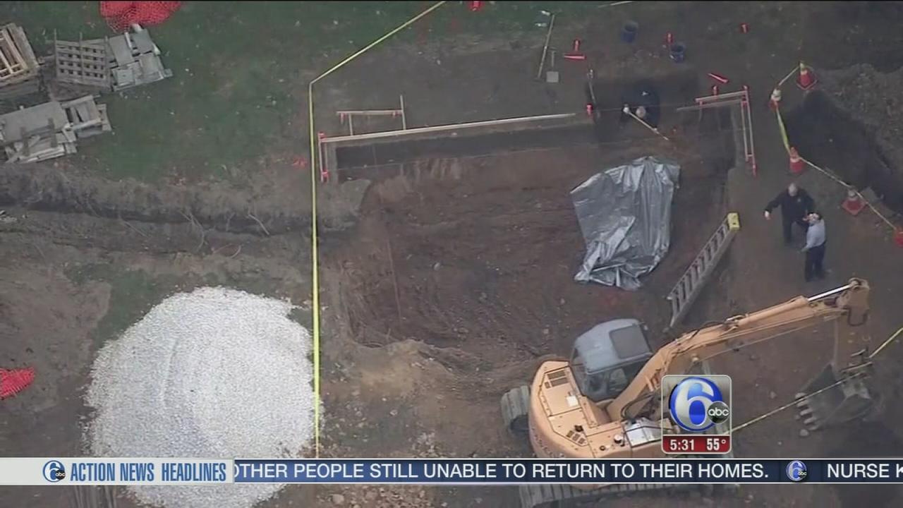 VIDEO: Crew installing a pool find human bones in Riverton