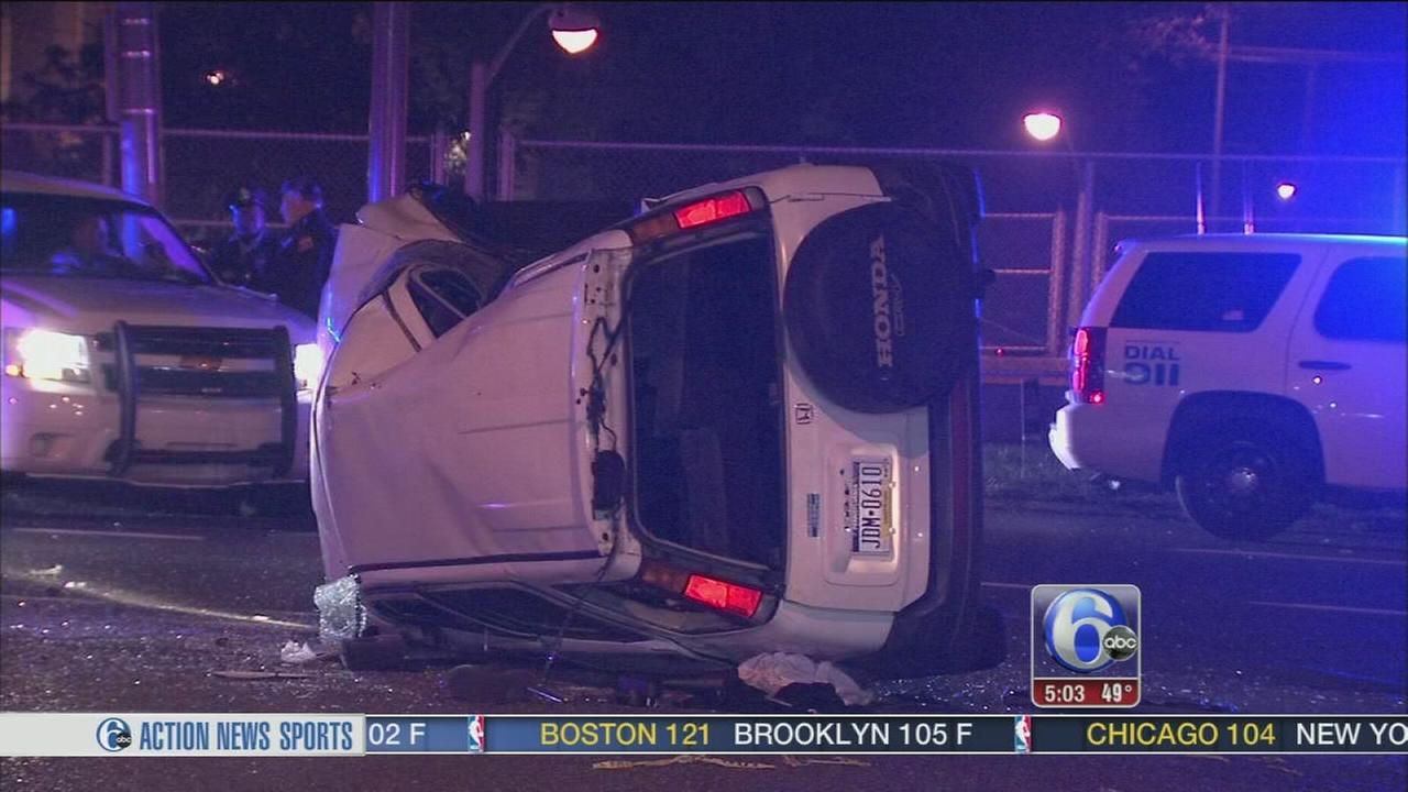 VIDEO: Woman rescued after violent crash on Roosevelt Blvd.