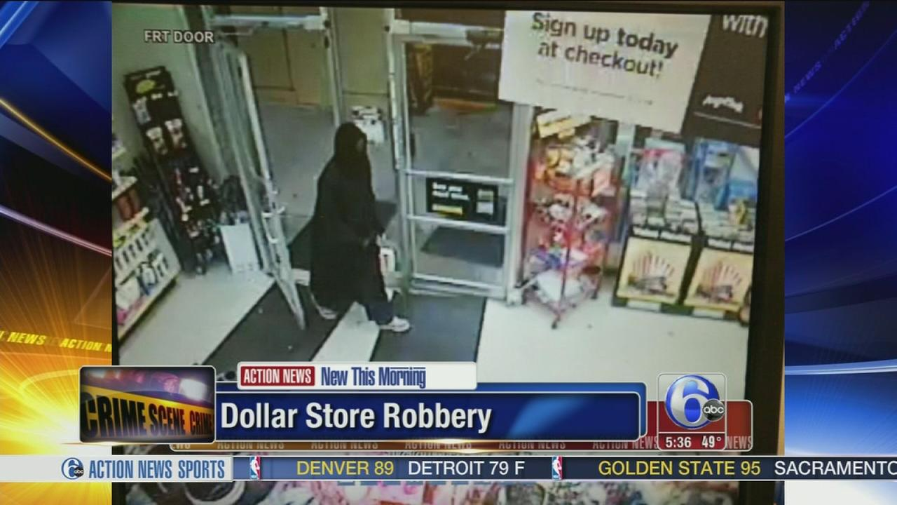 VIDEO: Search for gunman in dollar store robbery in Montco