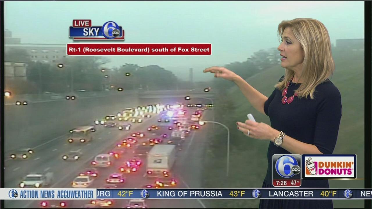 VIDEO: Crash slows traffic on SB Roosevelt Blvd.