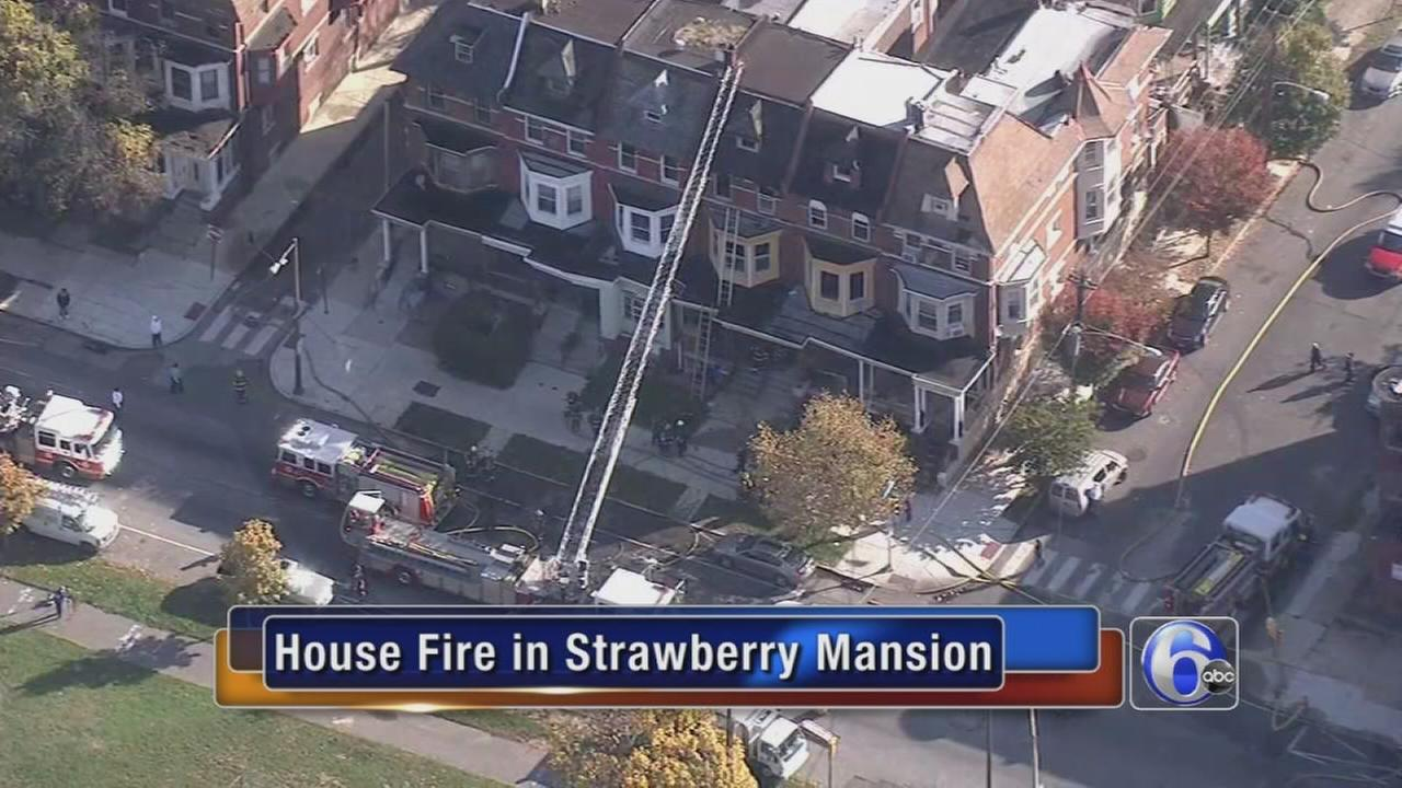 VIDEO: Fire damages home in Strawberry Mansion