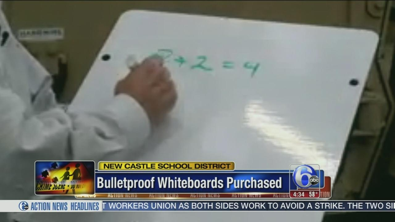 VIDEO: Bulletproof whiteboards purchased