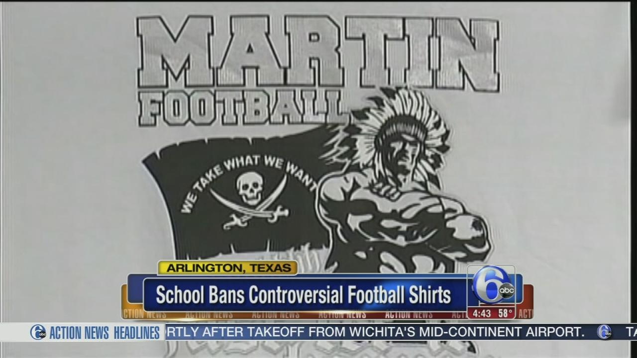 VIDEO: Texas school bans controversial football shirts