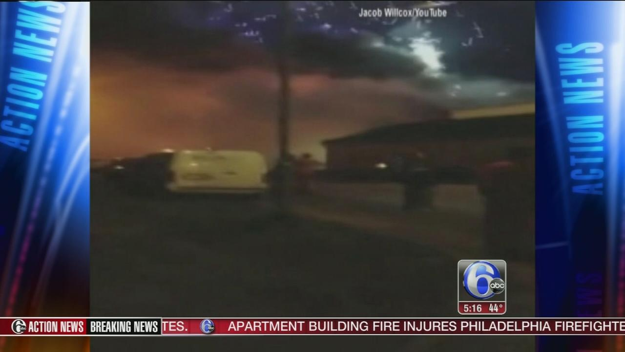 VIDEO: Fireworks factory blaze lights up the sky
