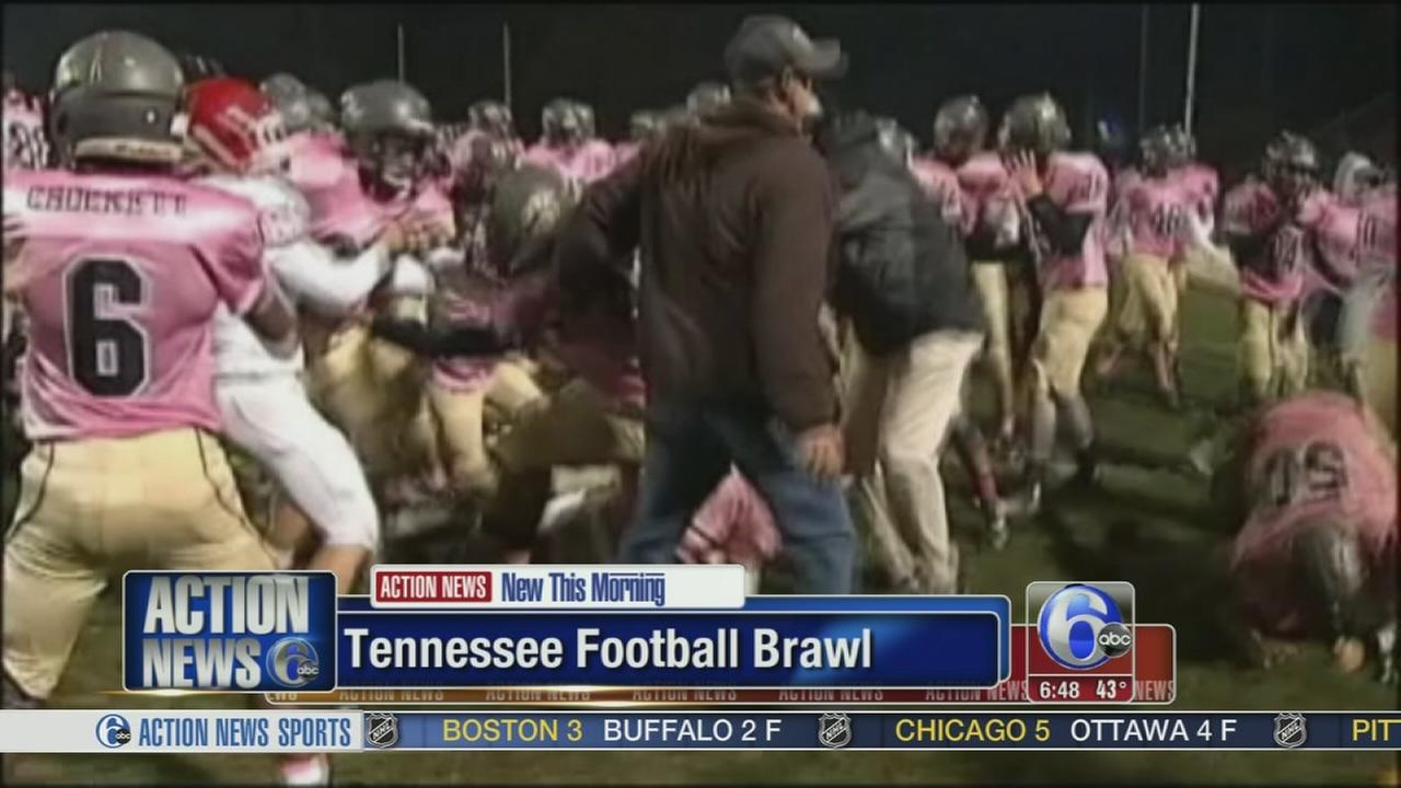 VIDEO: Football rivals slug it out in Tennessee