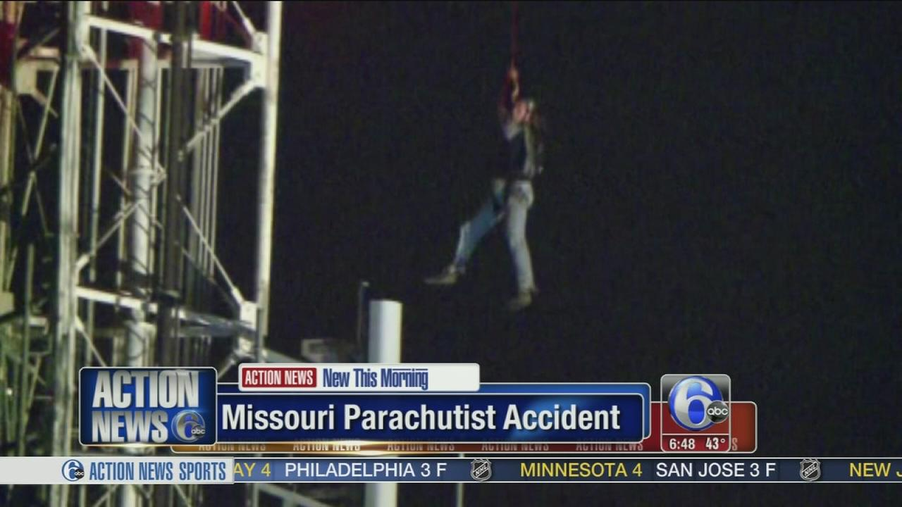 VIDEO: Parachutist rescued after dangling 2 hours