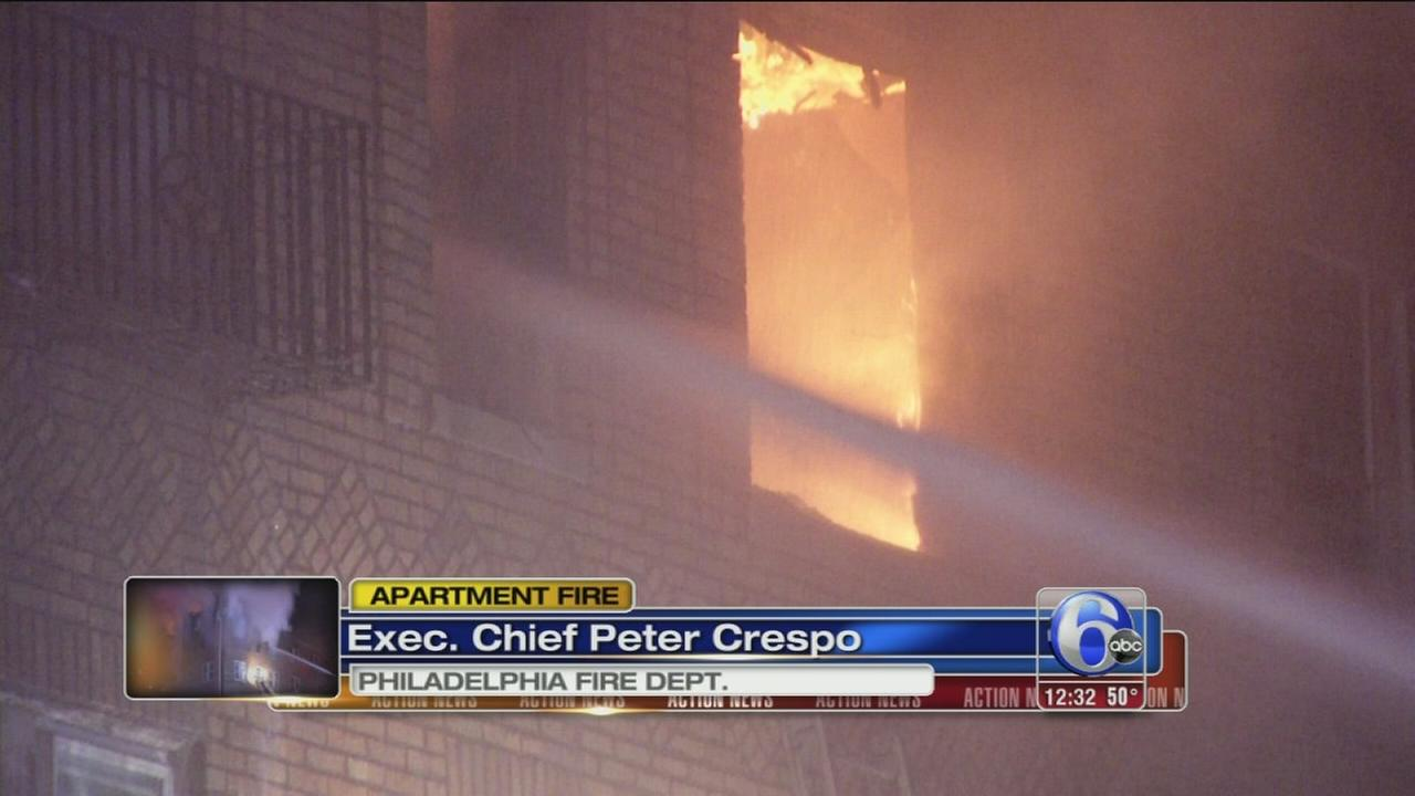 VIDEO: Firefighter, resident injured in West Philly apartment fire