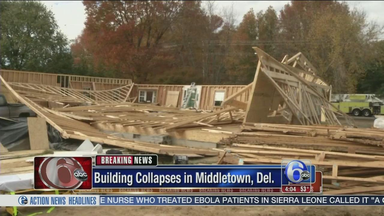 VIDEO: Man rescued from building collapse in Middletown