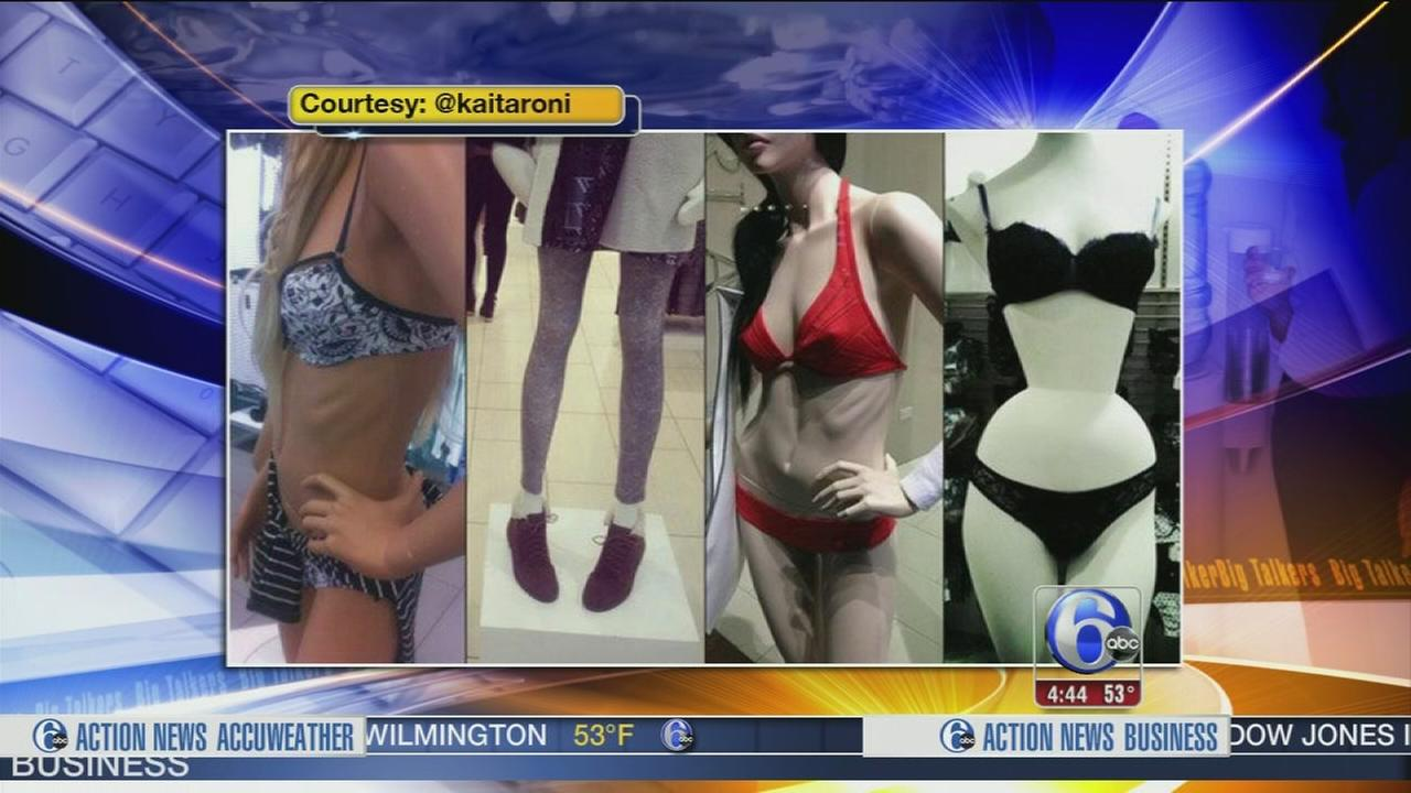 VIDEO: Retailer under fire for skinny mannequins