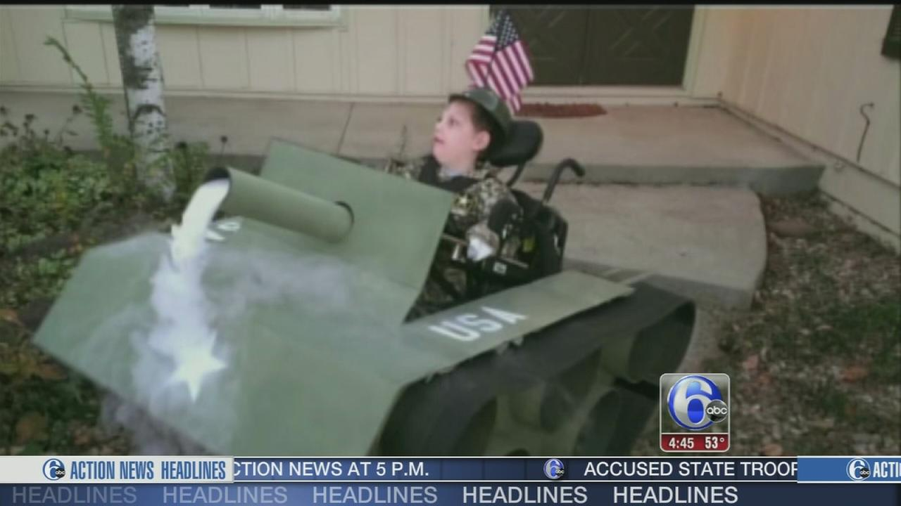 VIDEO: Dad designs epic wheelchair costume for son