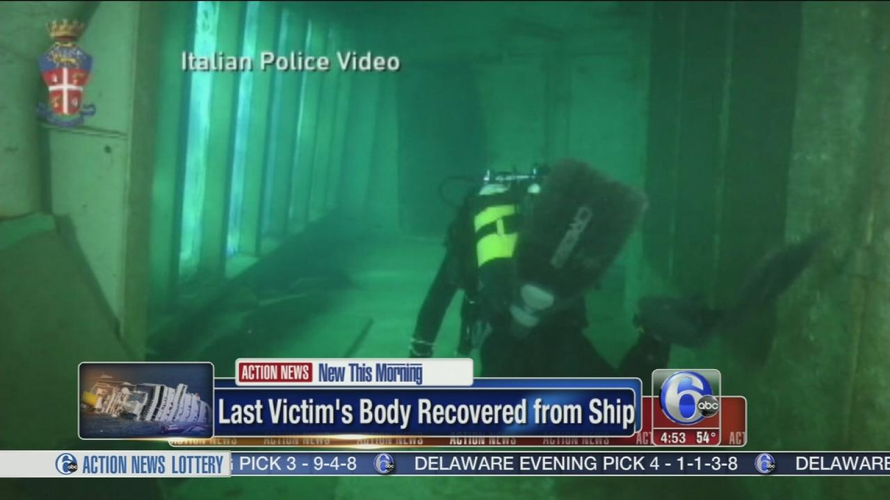 VIDEO: Last victim recovered from Costa Concordia