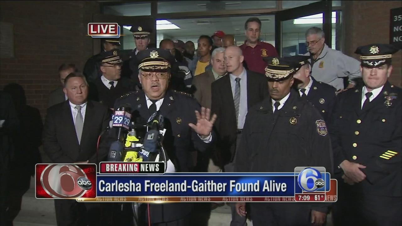 VIDEO: Police press conference on Carlesha Freeland-Gaither