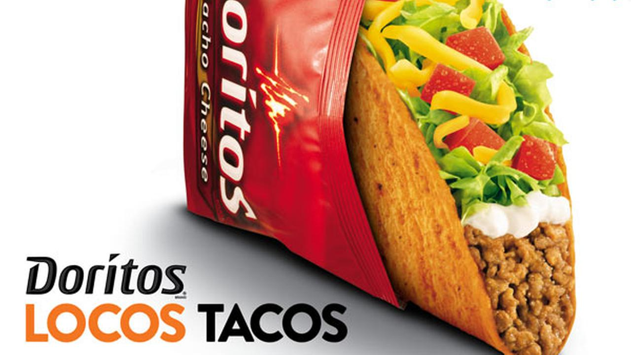 This photo provided by Taco Bell shows an advertisement for Doritos Locos Tacos shells. (AP Photo/Taco Bell)