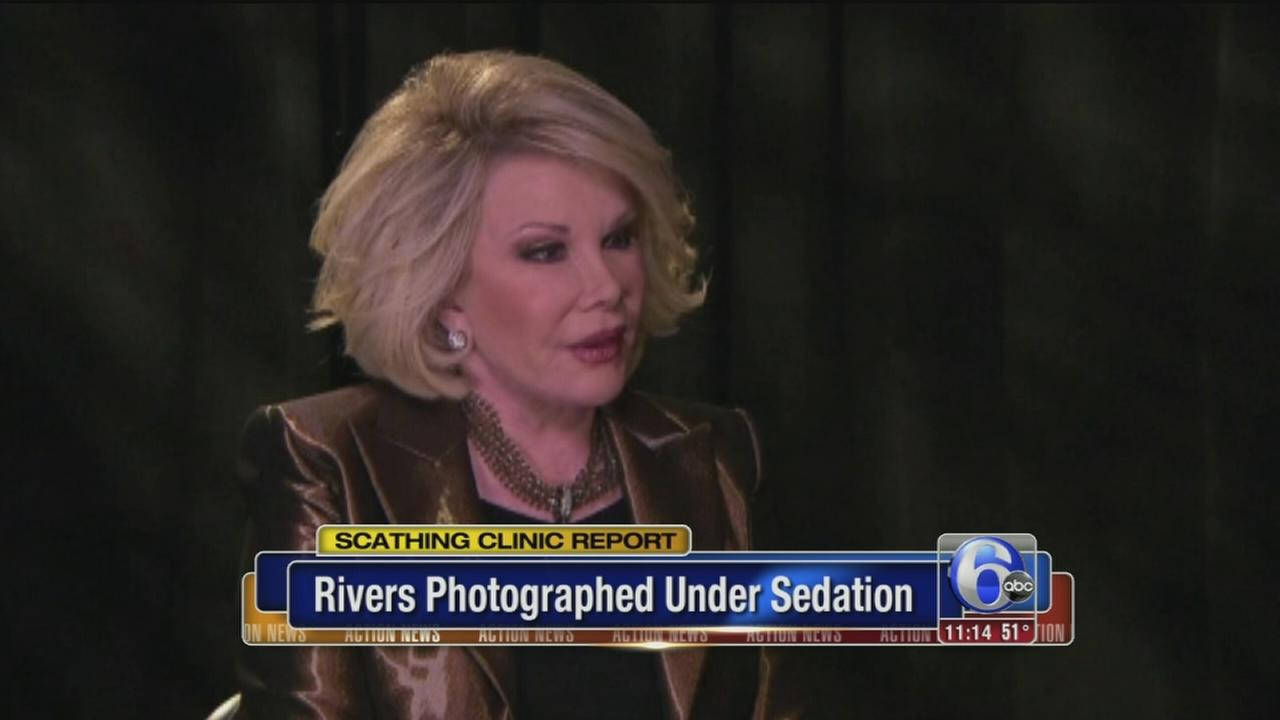 VIDEO: Rivers photographed under sedation