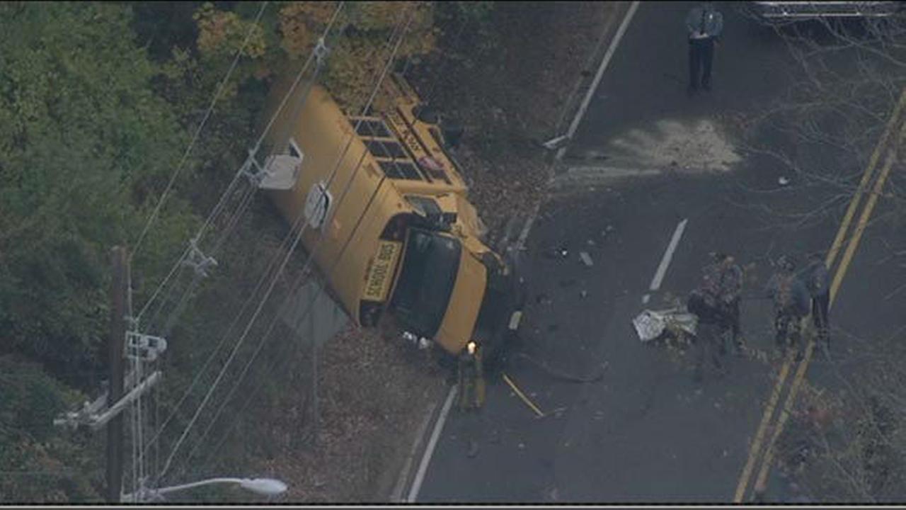 Crash involving school bus, car in Princeton