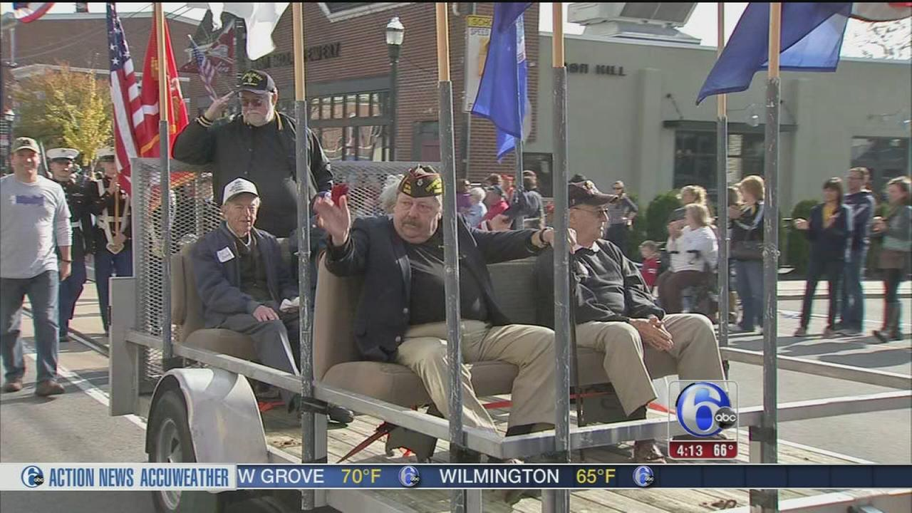 VIDEO: Annual parade honors veterans in Media, Pa.