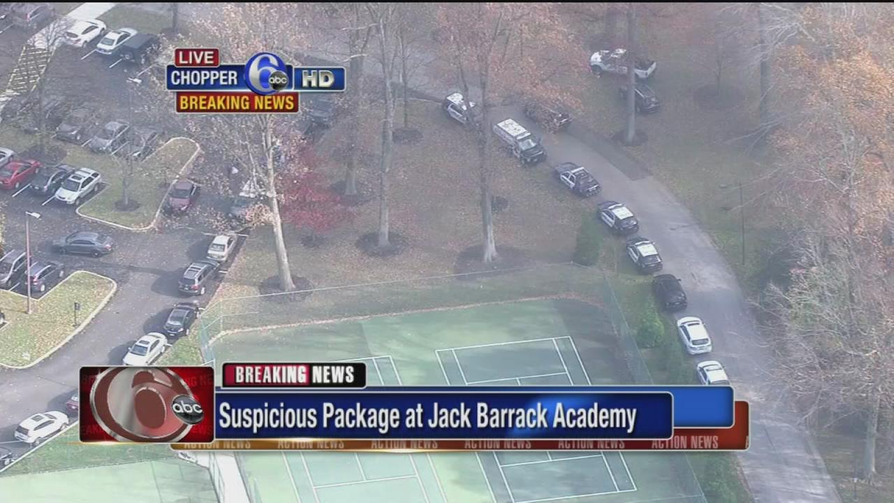 VIDEO: Suspicious package at Jack Barrack Academy