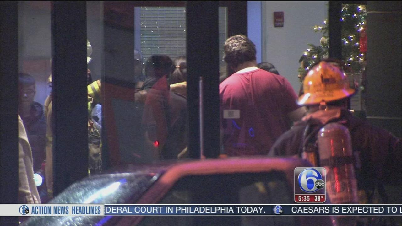 VIDEO: Firefighters battle high-rise apartment blaze in North Philly