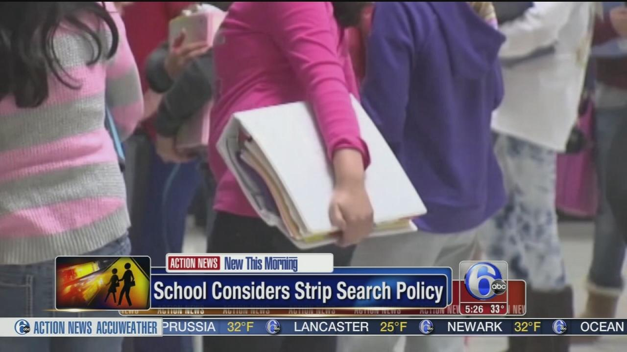VIDEO: School considers strip search policy