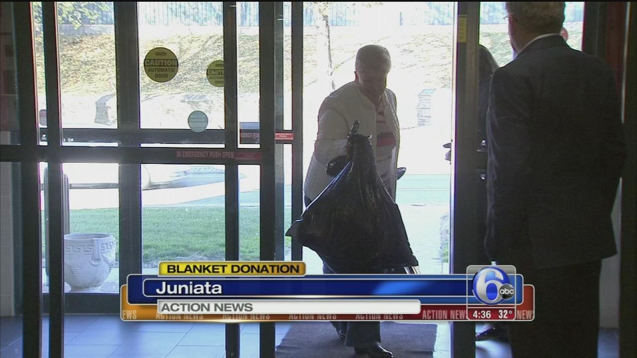 VIDEO: Blanket donation
