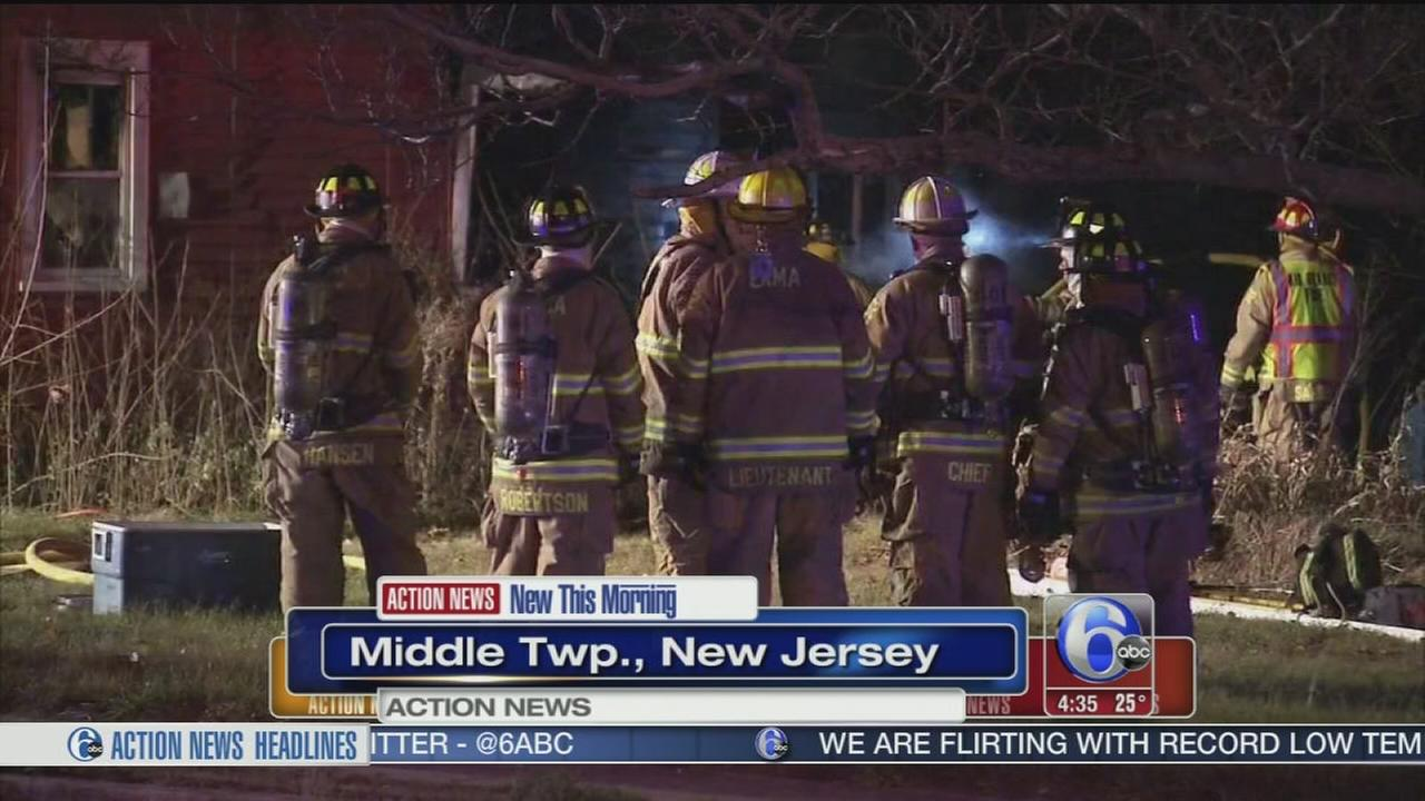 VIDEO: Blaze damages house in Cape May County