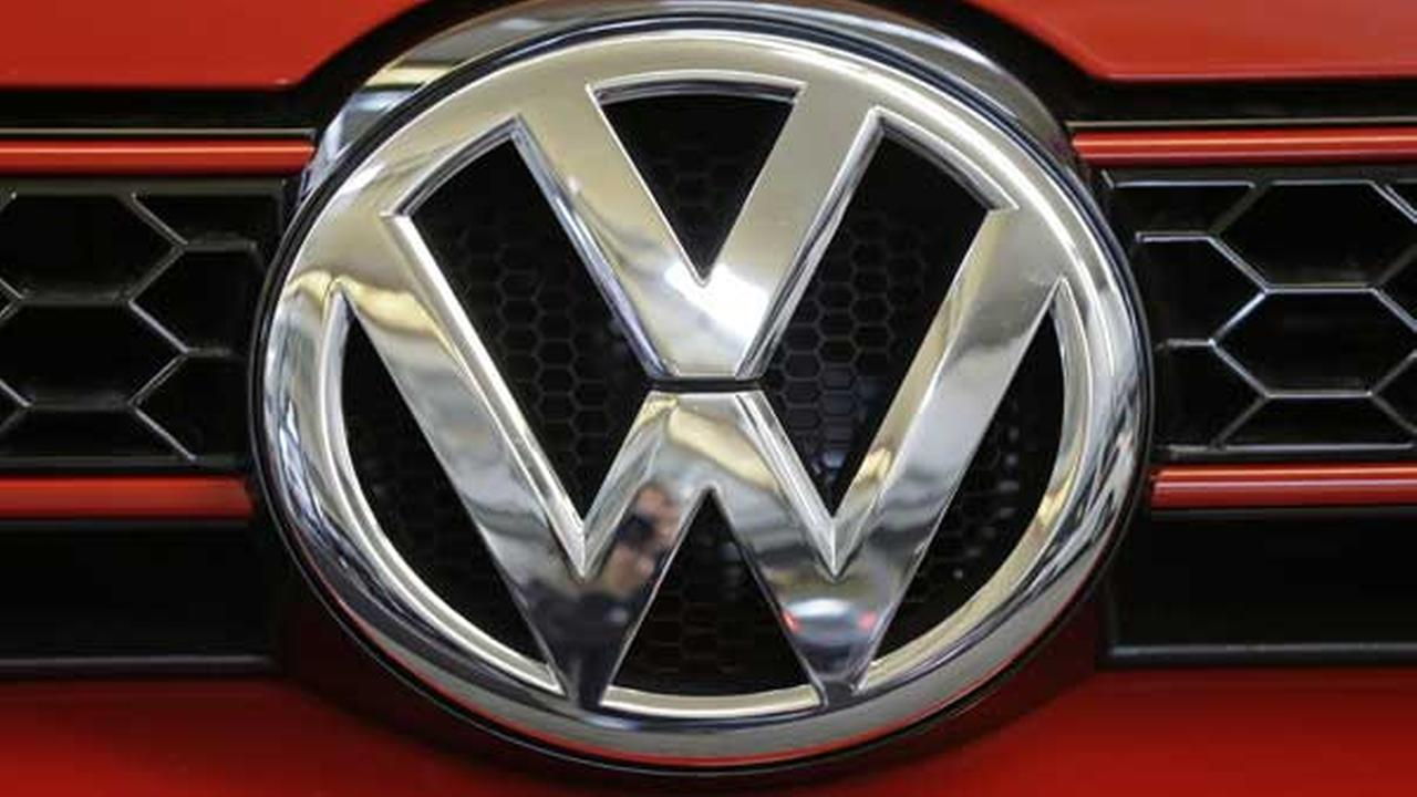 This photo taken on Feb. 14, 2013 shows the Volkswagen logo on the grill of a 2013 Volkswagen on display at the 2013 Pittsburgh Auto Show in Pittsburgh. (AP Photo/Gene J. Puskar)